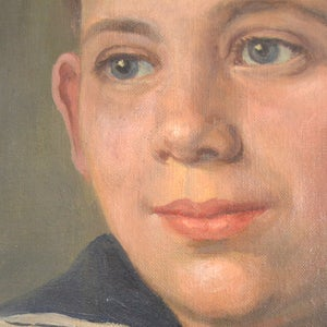 Image of 1926, Portrait Painting, 'Sailor Boy' Willy Zirges (1867-1938)