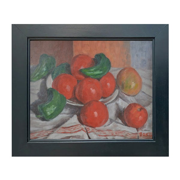 Image of 1930's, French Still Life Painting, Tomatoes.' Joseph Bontet