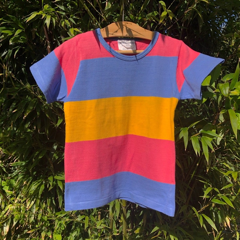 Image of Clothkits striped, cotton T-shirt. Age 5-6yrs.