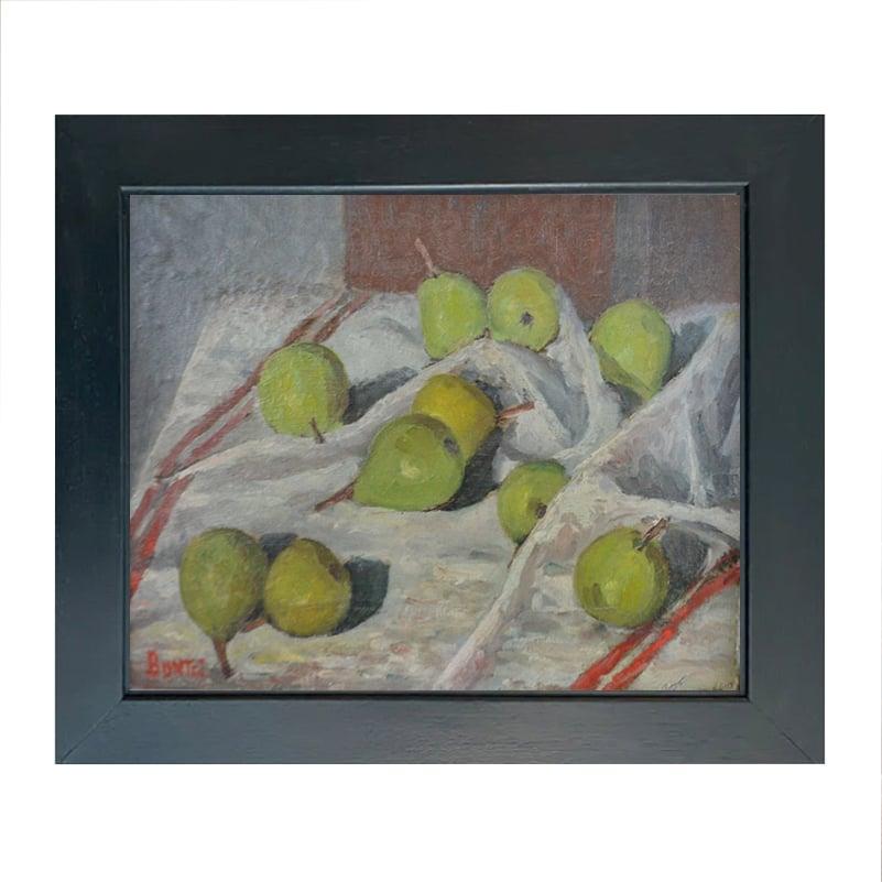 Image of 1930's, French Still Life, 'Pears,' Joseph Bontet