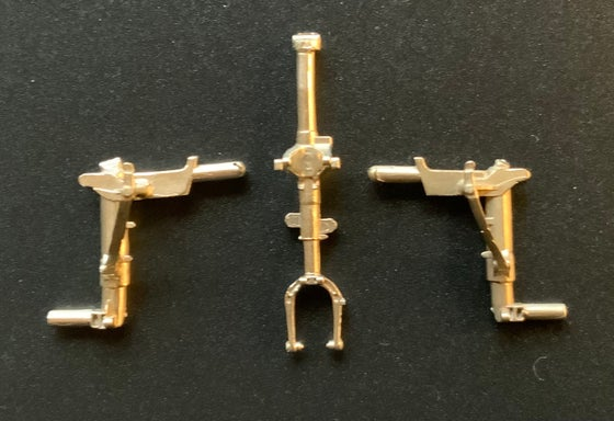 Image of Lockheed Martin F-22 Raptor brass undercarriage set for the Hasegawa kit