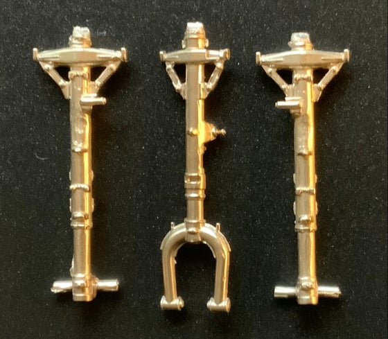 Image of FMA IA-58 Pucara brass undercarriage set for the Kinetic kit