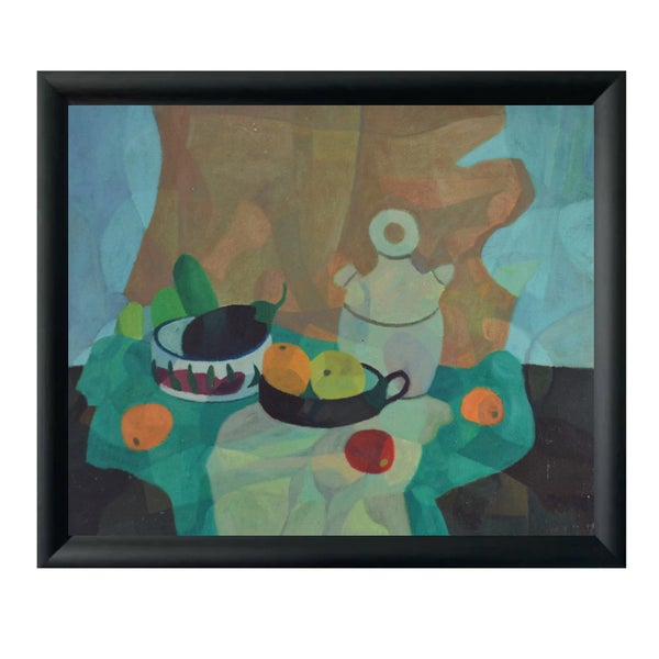 Image of Mid-century Painting, 'Oranges and Apples', Horas Kennedy