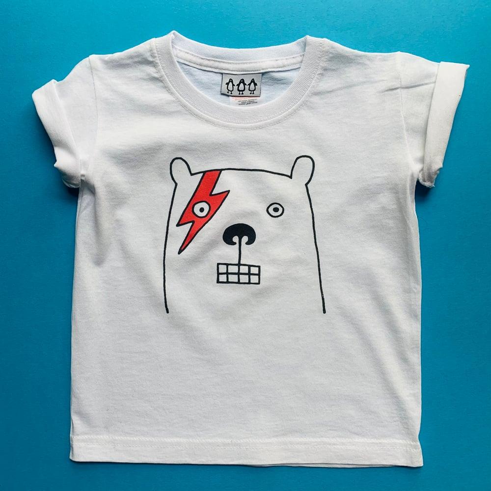 Image of Bowie bear kid's tshirt