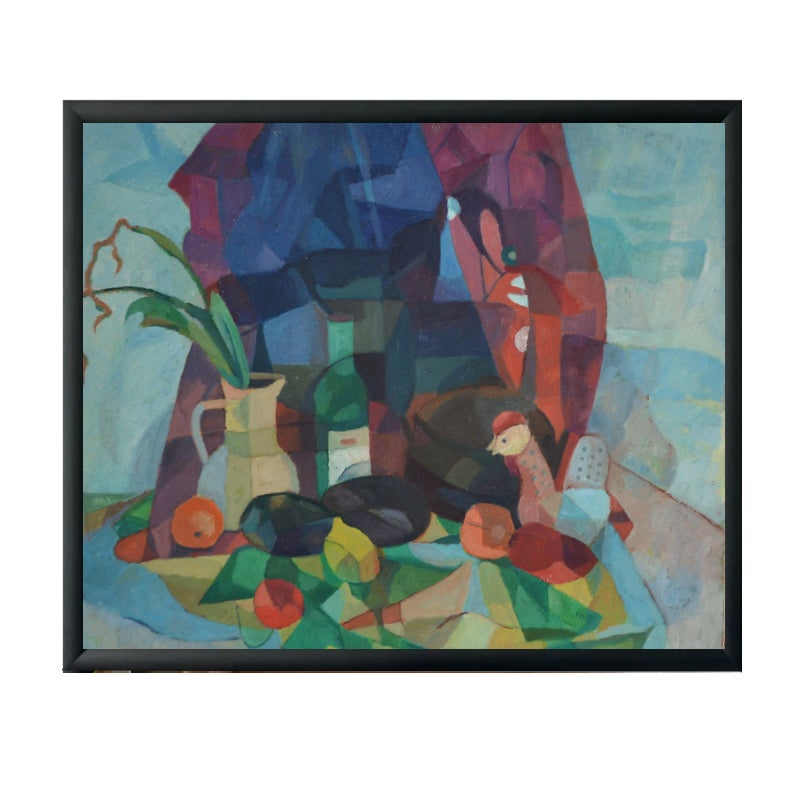 Image of Still Life Painting, 'Jug and Stems' Horas Kennedy (1917-1997)