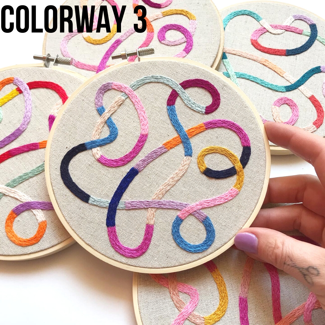 Tangled Threads - HAND EMBROIDERED HOOP ART