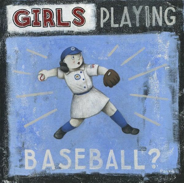 Image of Girls Playing Baseball?