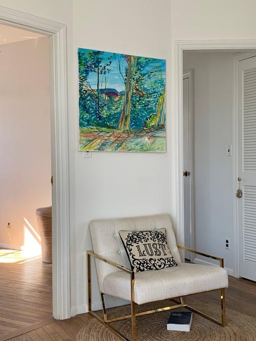"Image of Alta Vista Park 30"" x 30"" painting"