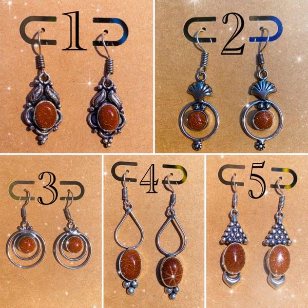 Image of goldstone earrings
