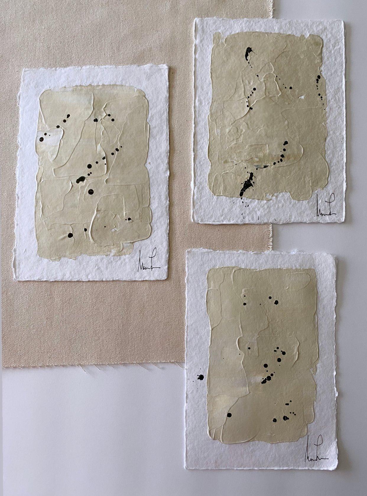 "Image of ""Neutral ML Art"" Handmade Cotton Rag  Paper"