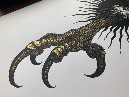 "Image of Predatory Glow - Gold (16x24"")"