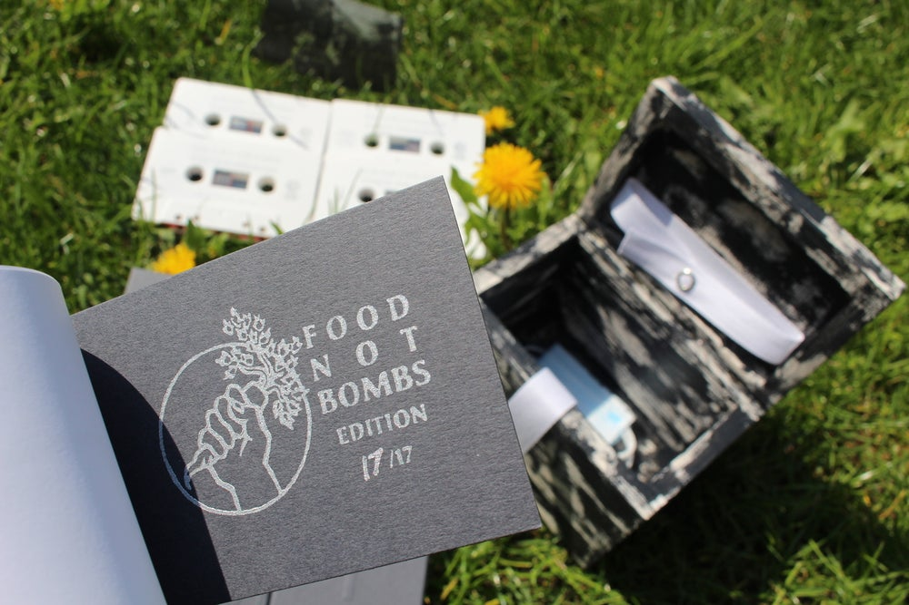 "Image of GUANTANAMO PARTY PROGRAM ""BOX"" /FOOD NOT BOMBS EDITION/"