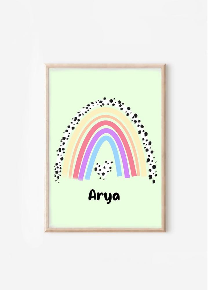 Image of Dalmatian Rainbow Print