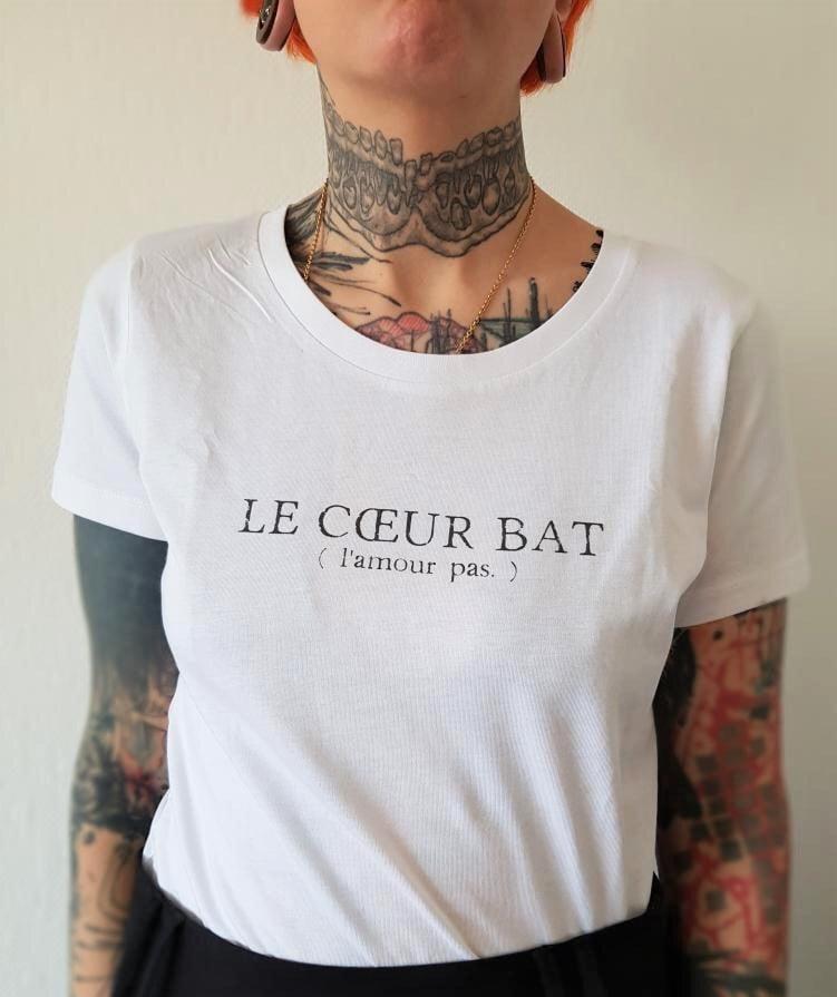 Image of T-Shirt blanc The Simones X l'Androgynette - Le Coeur Bat