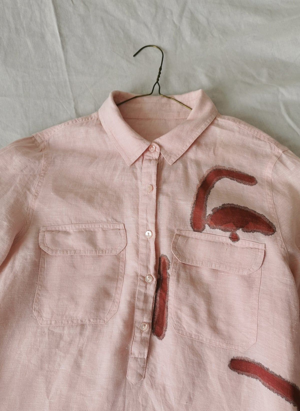 Image of pink up blouse