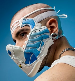 Image of SNEAKER MASK / SKY BLUE - WHITE / HEAD PIECE