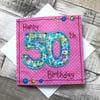 Happy 50th card