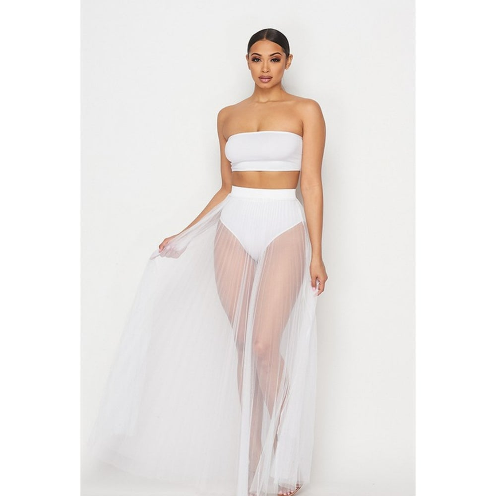 Image of Marciano Tulle Skirt (White)