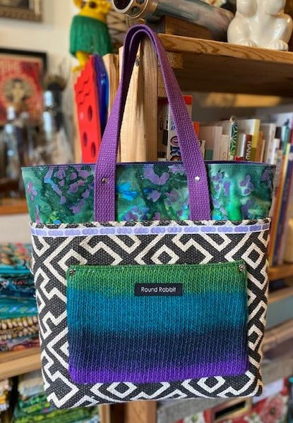 Image of Snazzy Tote - Knit Purple