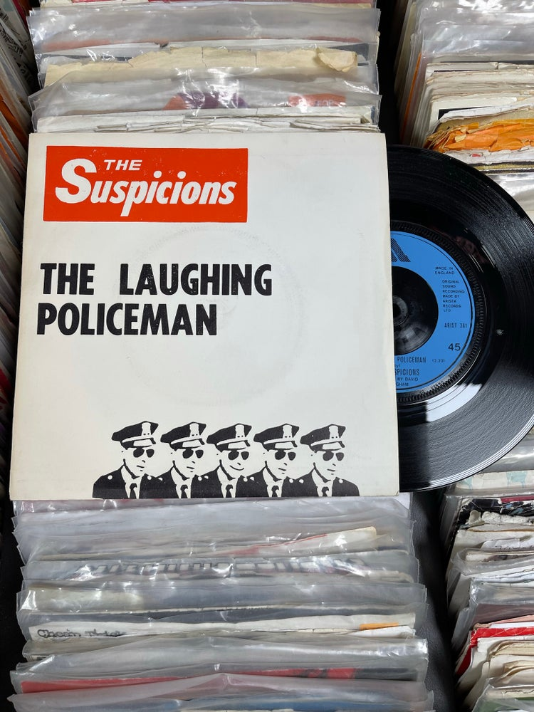 Image of Suspicions-The Laughing Policeman b/w Suspicion deadstock 7""