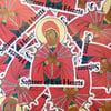 Softener of Evil Hearts Sticker