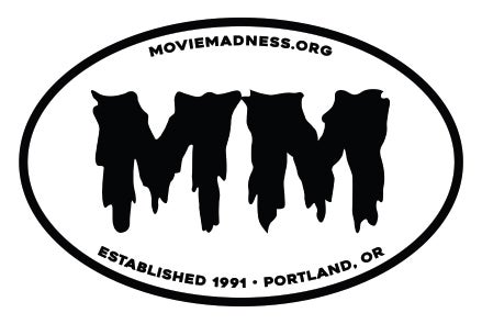 """Image of Movie Madness """"MM"""" Oval Sticker"""
