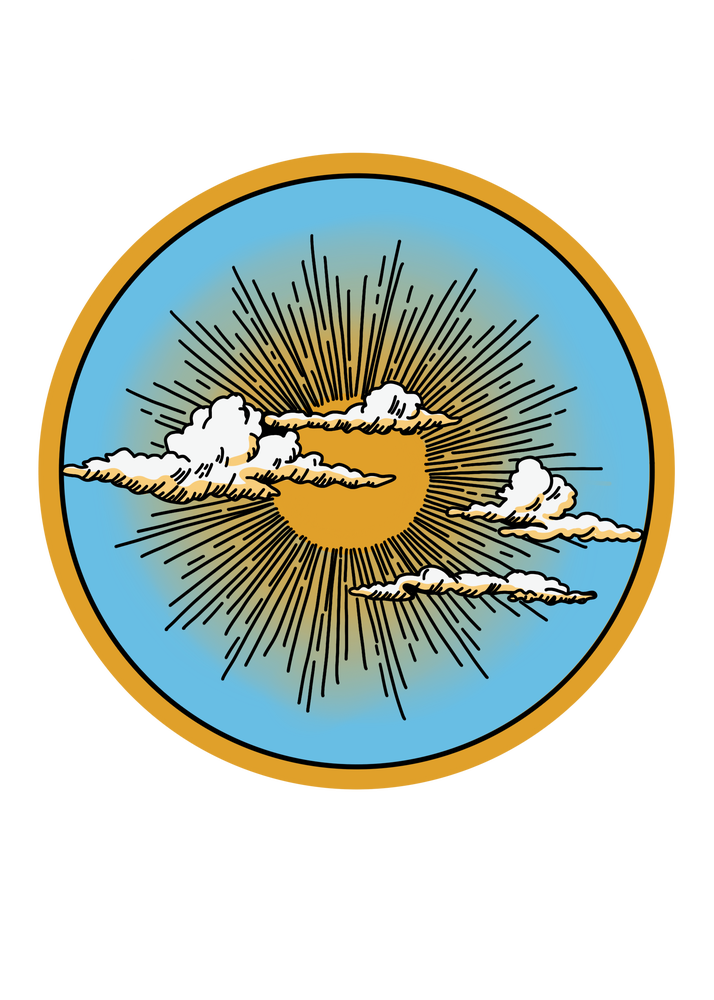 Image of Circular Sunset Sticker