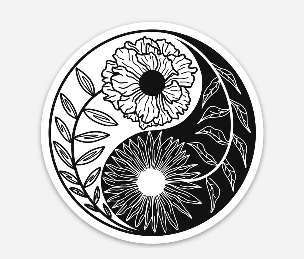Image of Yin Yang Circle Sticker