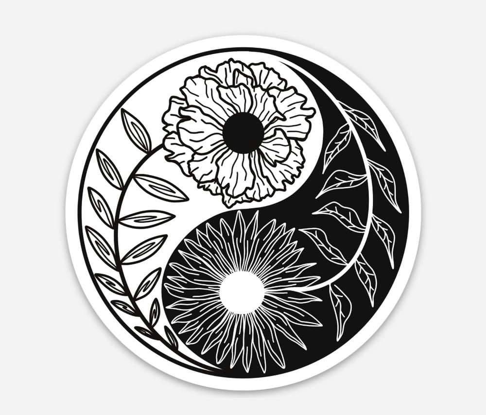 Image of Yin Yang Circle Sticker