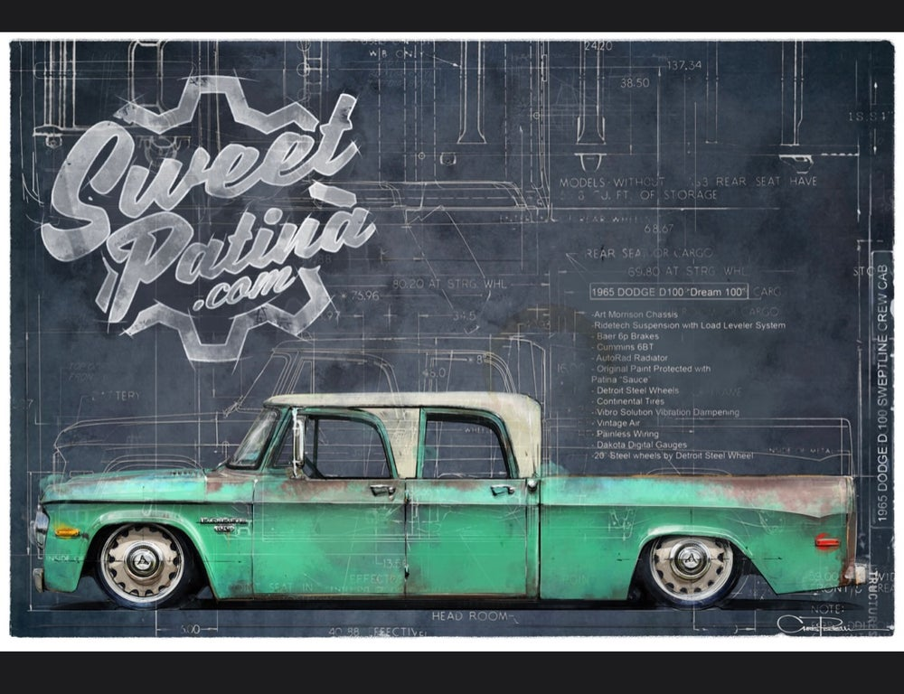 "Image of 1965 Dodge ""Dream 100""  Blue Print Shirts"
