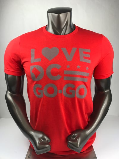 Image of Love DC Go-Go Blood Orange Tshirt