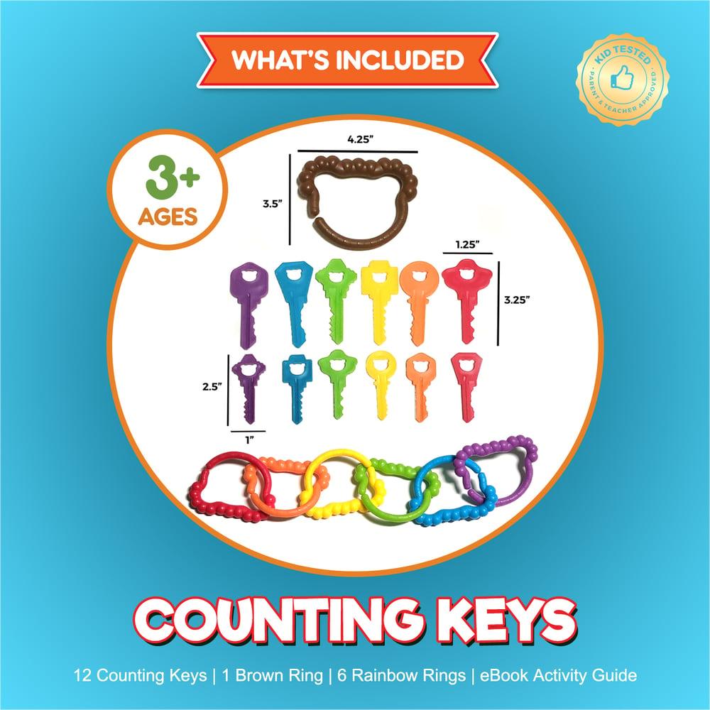 Image of Jumbo Counting Keys & Matching Rings Set - 19 pc