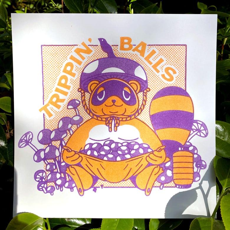 Image of Trippin' Balls Riso Print