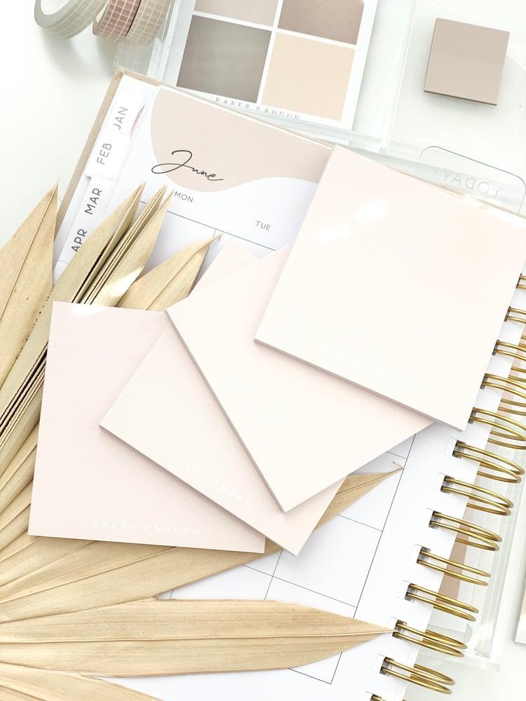 Image of Simple Light Blush Sticky Notes