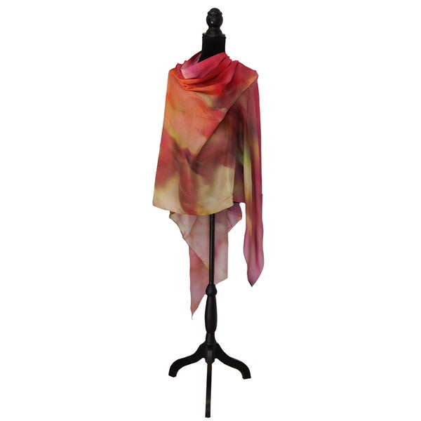 Image of Cashmere Silk Wind Leaves Apricot