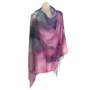 Image of Cashmere Silk Wind Leaves Mauve