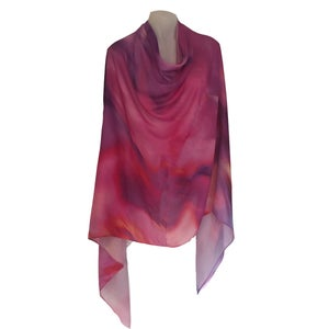 Image of Cashmere Silk Wind Leaves Pink
