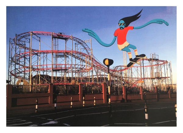 Image of ' Rollercoaster ' A3 Giclee Print