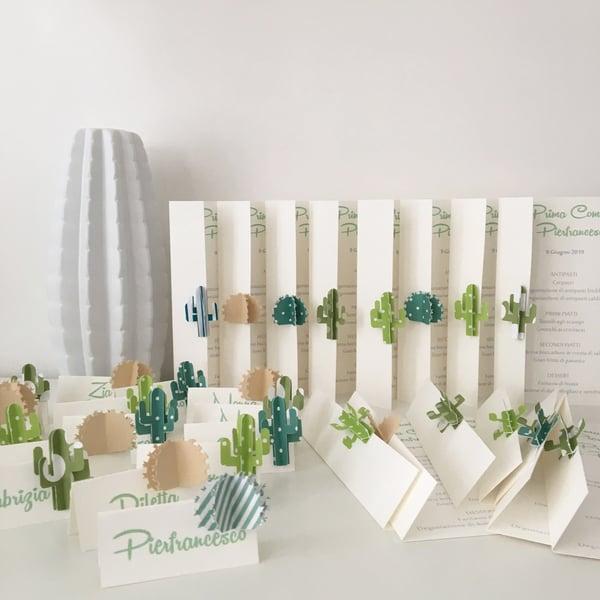 Image of Segnaposti e Menù - cactus