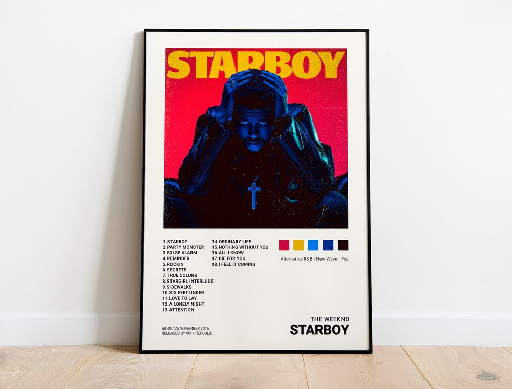 The Weeknd - Starboy Album Cover Poster