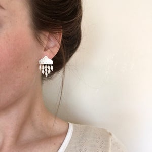 Image of track earring