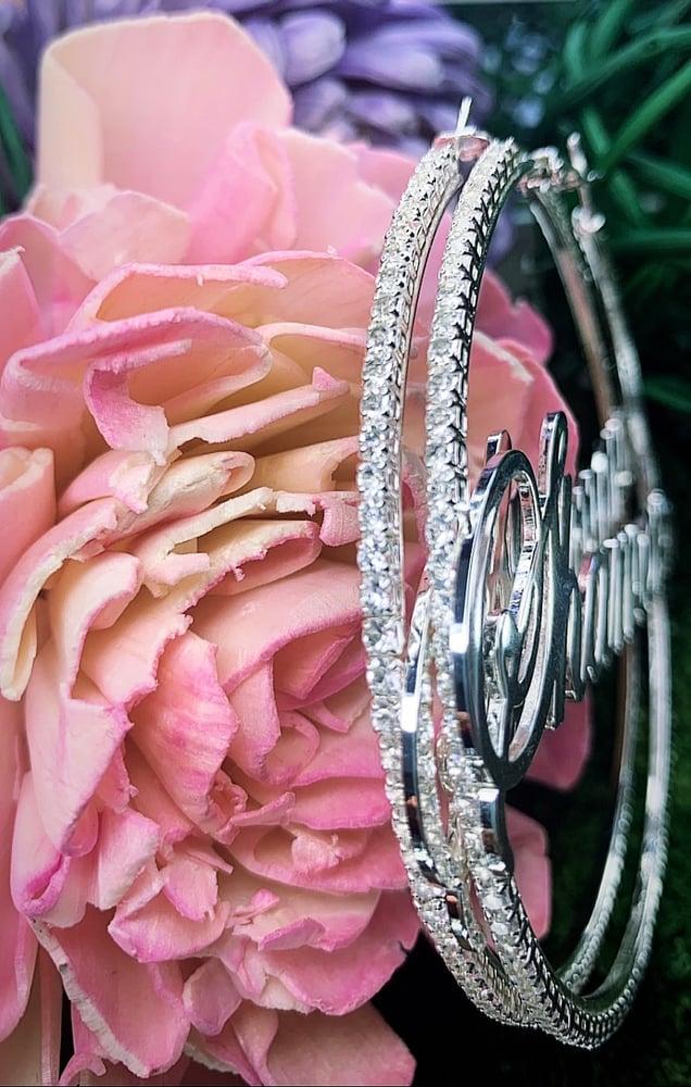 Image of Custom Zircon Hoop Earrings For Women