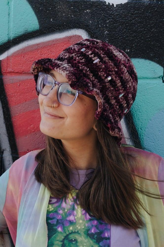"Image of ""Purple Dreams"" Velvet Bucket Hat"