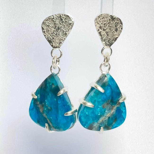 Image of Sterling silver and Apatite earrings