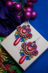 Mini Earrings - Get this party started - petites boucles brodées