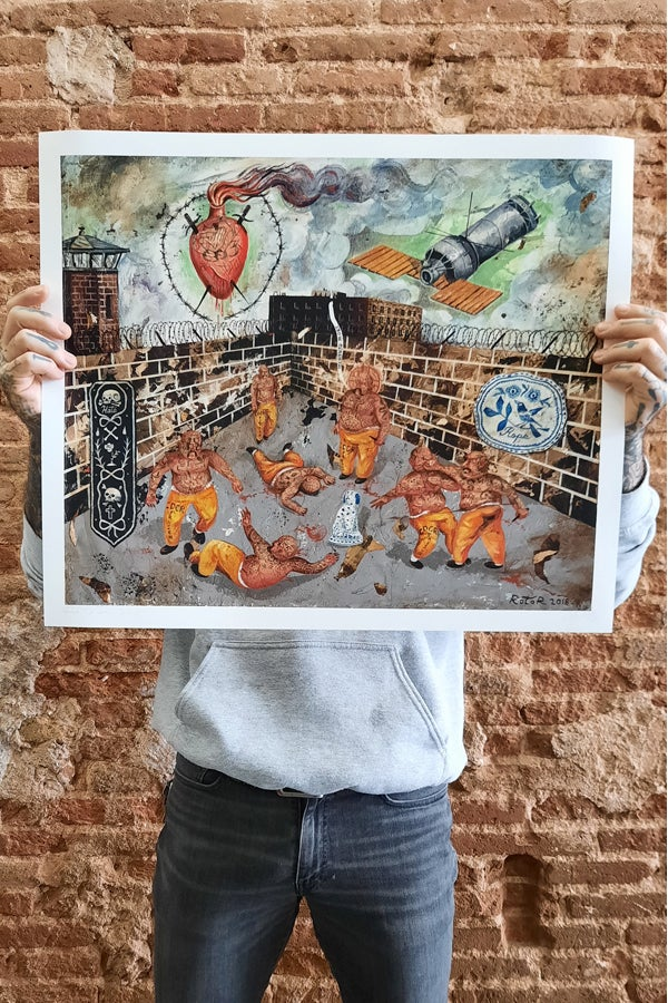 Prison fight print - proyecto eclipse