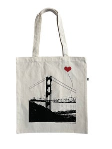 Image of San Francisco Golden Gate Bridge Recycled Cotton Canvas Tote Bag