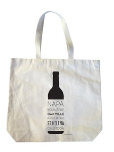 Image of Napa Wine Bottle Heavyweight Cotton Canvas Tote Bag