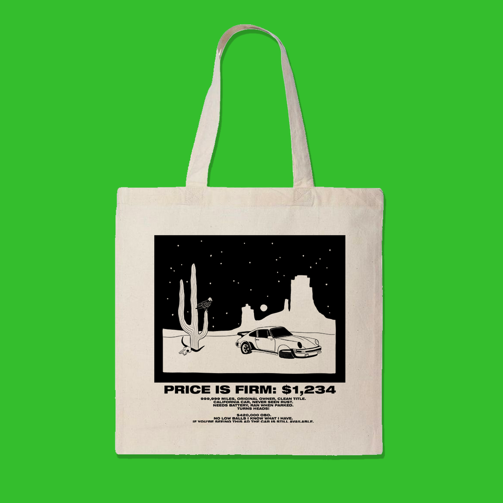 PRICE IS FIRM TOTE BAG