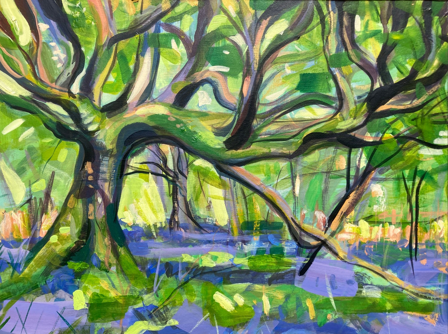 Image of Under the old Sycamore - Plein Air Study